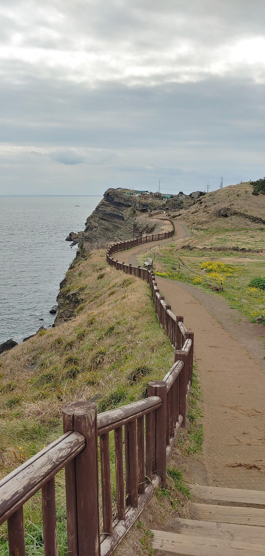 A photo of a path in jeju South Korea