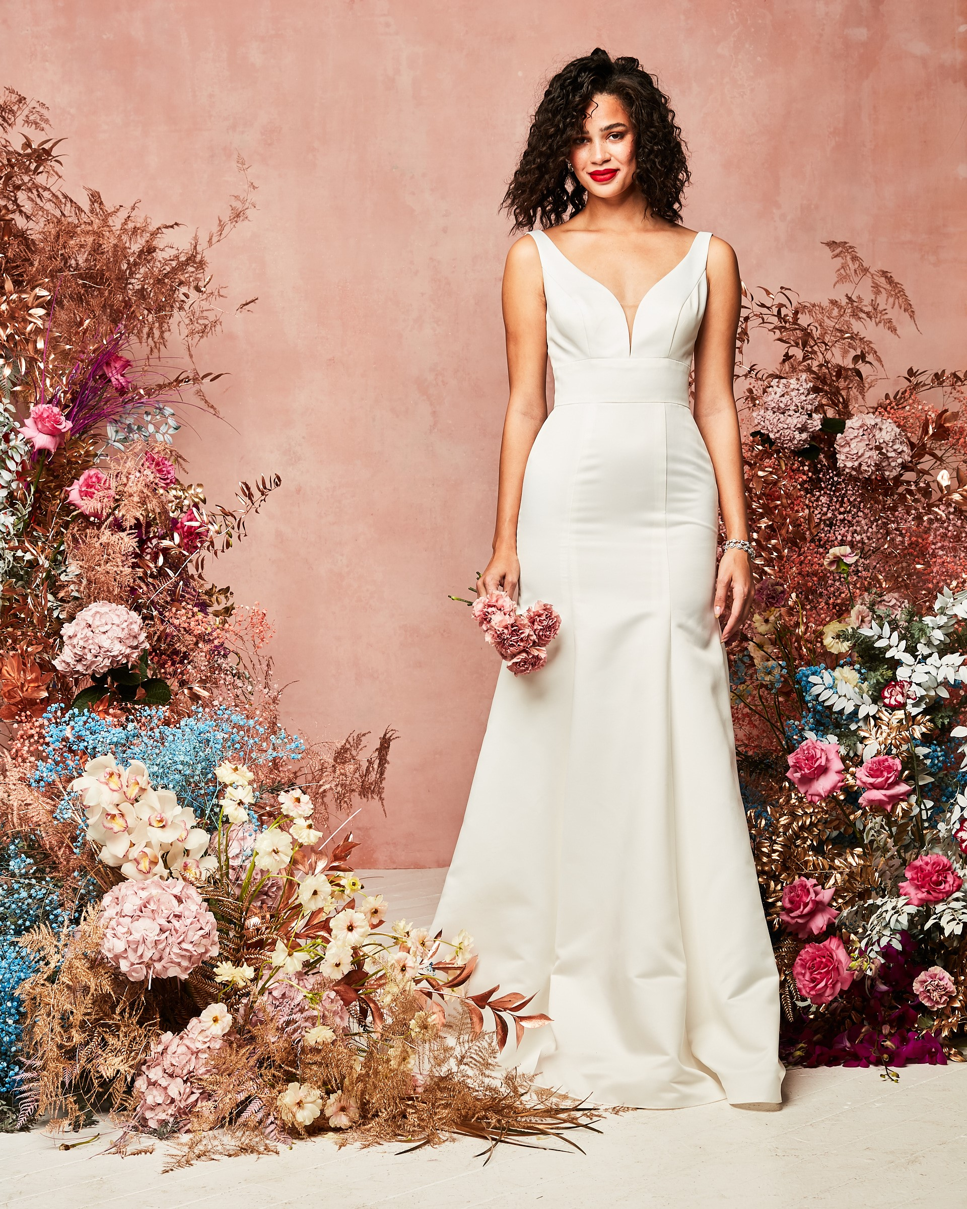david's bridal spring 2021 collection modern fitted mermaid skirt gown